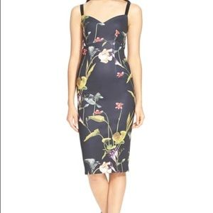 Ted Baker 'Iisa' Floral Print Body-Con Dress